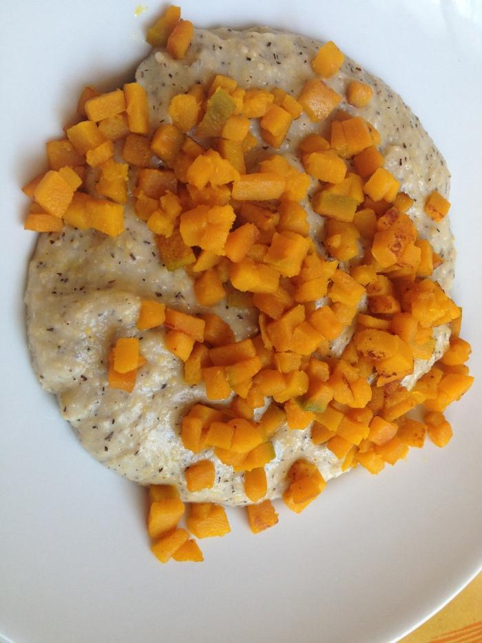 polenta taragna con formaggio e zucca