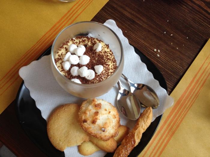 cremino al cioccolato con biscottini